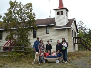 Our first visitors, the Steiner family from Fraser Lake.