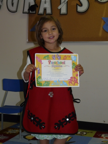 Gianna's preschool graduation